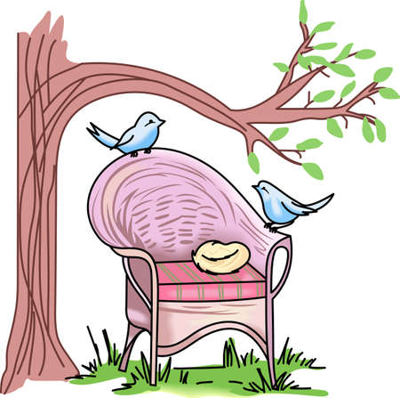 lawn chair: Birds are fascinating animals.  This is a perfect gift for a favorite birder you know.  They will love it. Illustration