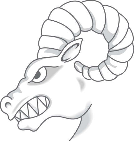 Time to cheer for the team with this Rams mascot design.  A perfect design for all the fans from Great Notions.