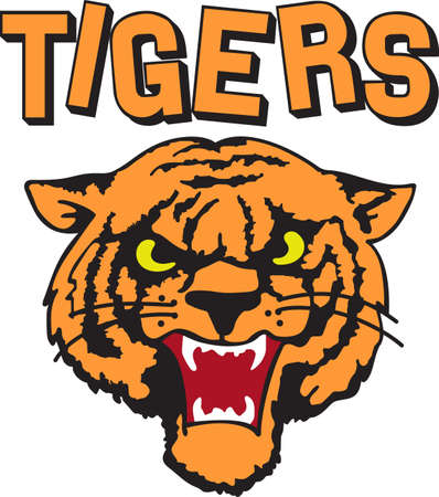 Time to cheer for the team with this  Tiger mascot design.  A perfect design for all the fans from Great Notions.
