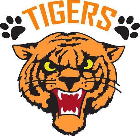 notions: Time to cheer for the team with this  Tiger mascot design.  A perfect design for all the fans from Great Notions.