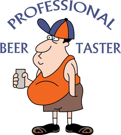 gag: This cartoon beer drinker is the perfect gag gift.  Get these cartoons from Great Notions.