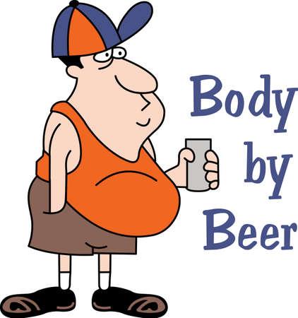이 만화 맥주 술꾼은 완벽한 개그 선물입니다. 위대한 관념에서이 만화를 꺼내십시오. 일러스트