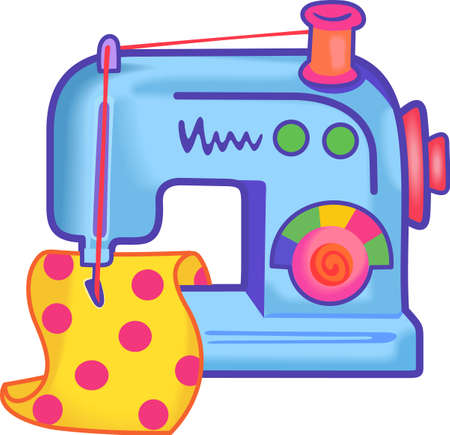 recreation room: Kids like to learn to sew from mom.  Get them this cute image for their items.
