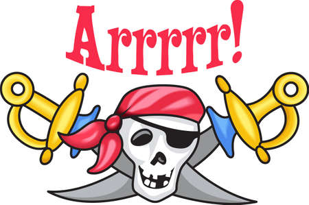 sabre's: To err is human. To arr is pirate.  Get this pirate design from Great Notions.
