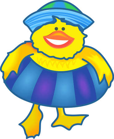 quack: This adorable duck says quack, quack.  Send this happy duck to a child.  They will love it!