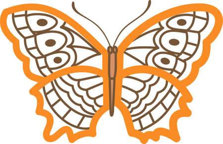notions: This beautiful butterfly shows a springtime design.  Another cute image from Great Notions! Illustration