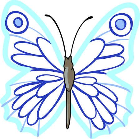 この美しい蝶は、春のデザインを示しています。 偉大な概念から別のかわいい画像!  イラスト・ベクター素材