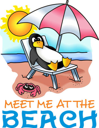 sunbathe: This cute little penguin is perfect to take to the beach or perfect for childs room.  Give as a gift.  They will love it!