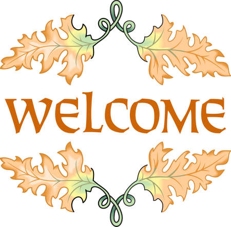 This is a perfect design for your home during the fall.  Make your guests feel welcome.  They will love it!