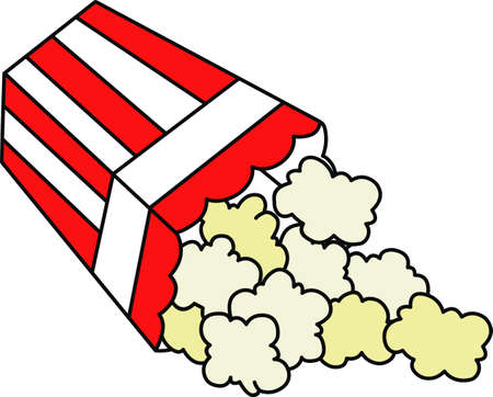 Family movie night needs popcorn.  Enjoy the movie better with this image from Great Notions. Ilustracja