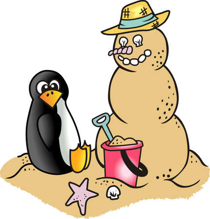 Spend your Christmas vacation on the beach building a snowman out of the sand.  Show everyone back home you avoided the snow.