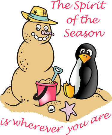 south pole: Spend your Christmas vacation on the beach building a snowman out of the sand.  Show everyone back home you avoided the snow.