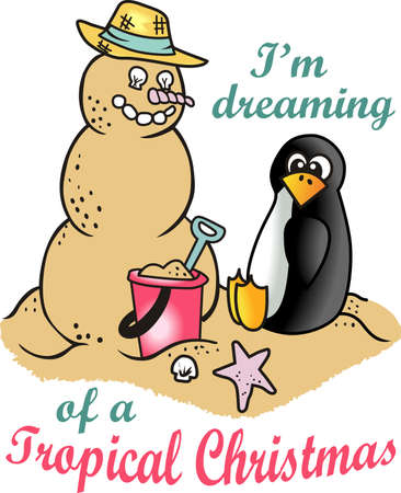antarctic: Spend your Christmas vacation on the beach building a snowman out of the sand.  Show everyone back home you avoided the snow.