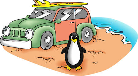 antarctic: Welcome to the beach, surfers! Grab your board because Surfs Up!