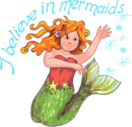 believes: Send this to someone that believes in mermaids.  A cute design from Great Notions.