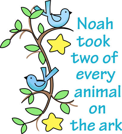 told: God told Noah to build an ark.  This is a beautiful design for your Sunday School class. Illustration