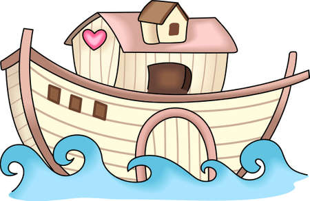 noahs: God told Noah to build an ark.  This is a beautiful design for your Sunday School class. Illustration