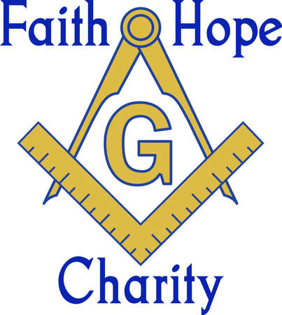 freemasons: The symbol represents freemasonry.  It stands for faith, hope and charity.  Add this design to a gift to a Master Mason.  Get these designs from Great Notions.