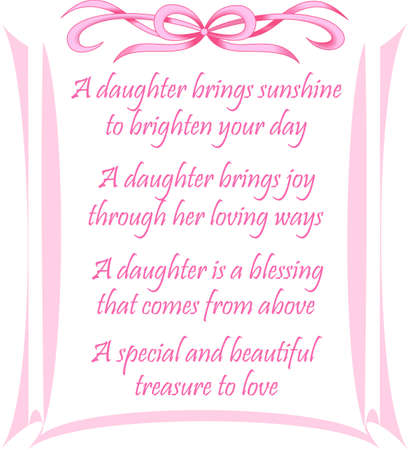 poems: A baby girl is made from sugar and spice everything sweet and everything nice.  Use this design on the newborn girls nursery.  Get these designs from Great Notions.