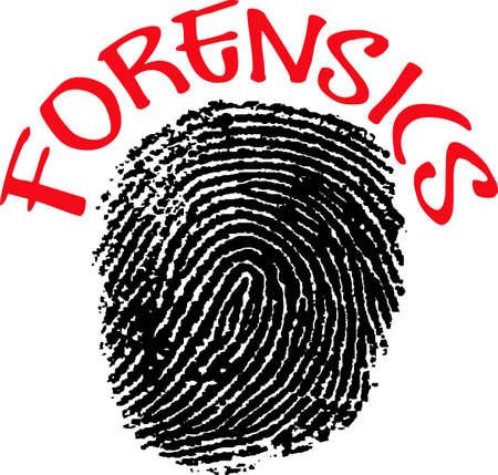 odcisk kciuka: Powierzyć swoje bezpieczeństwo funkcjonariuszy policji każdy dzień i dla tych, utrzymując nas bezpieczne w kryminalistyce. Ten projekt jest idealny dla nich podziękowania! Będą ją kocham! Ilustracja