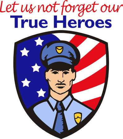 enforcement: You entrust your safety to police officers each day.  This design is perfect for thanking them! They will love it!