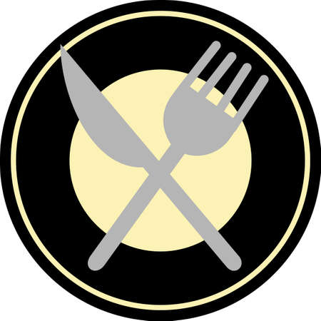 eating utensil: Its the perfect advertisement for your diner.  Get these designs from Great Notions.
