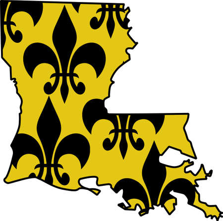The state is a perfect addition to your Louisiana proud theme. Get these designs from Great Notions.
