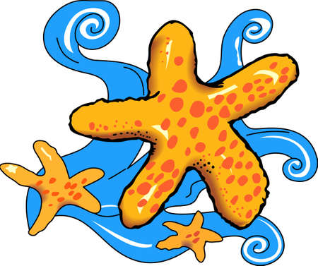 Happy starfish is here to brighten up your day with a big smile.  Share this cute starfish with someone special.  They will love it! Иллюстрация