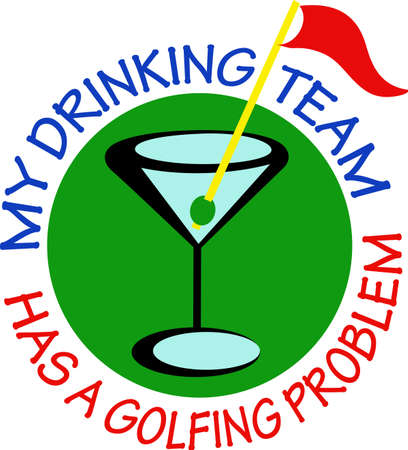 mixed drink: Golf is a great past time sport to enjoy playing with a group or on your own.  A perfect design for the golfer from Great Notions.