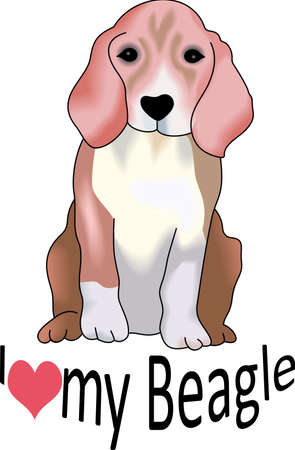 My best friend is hard at work for me.  Show everyone how much your dog means to you.  They will love it! Ilustração