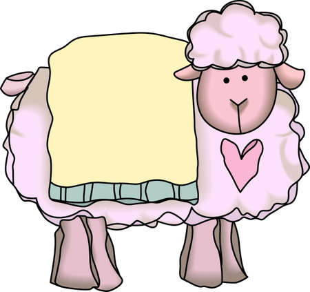 ewe: This adorable lamb is perfect for babys nursery.  Send this cute lamb to a child.  They will love it!