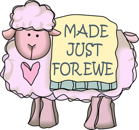mutton: This adorable lamb is perfect for babys nursery.  Send this cute lamb to a child.  They will love it!