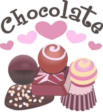 chocolate candy: Kids enjoy chocolate for an afternoon treat.  These are perfect to go on a picnic.  Everyone will love them! Illustration
