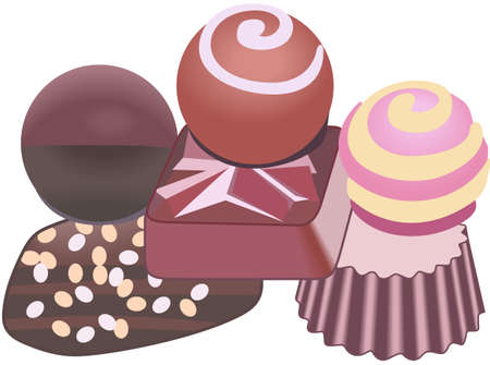 Kids enjoy chocolate for an afternoon treat.  These are perfect to go on a picnic.  Everyone will love them! Ilustração