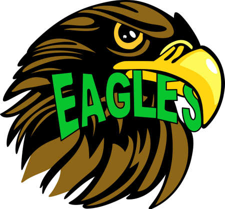 Show your team spirit with this Eagles logo.  Everyone will love it! Illustration