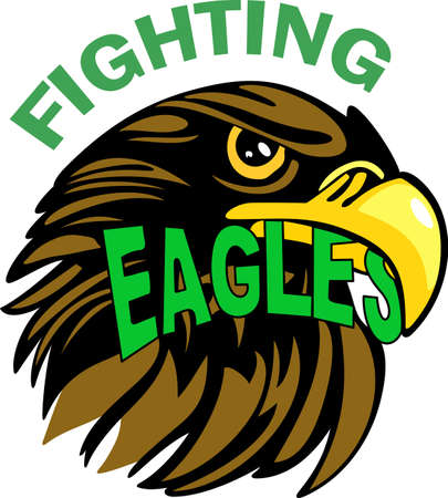 Show your team spirit with this Eagles logo.  Everyone will love it!  イラスト・ベクター素材