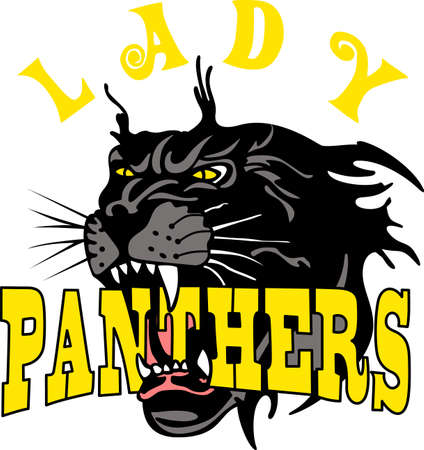 mountain lion: Show your team spirit with this Panthers logo.  Everyone will love it!