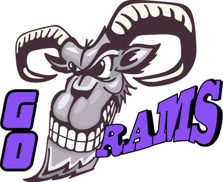 ewe: Show your team spirit with this Rams logo.  Everyone will love it! Illustration