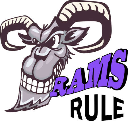 ruminant: Show your team spirit with this Rams logo.  Everyone will love it! Illustration