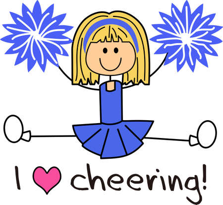 This is a perfect gift to be proud of her dedication to cheerleading.  She will love to show that she is a cheerleader with this design from Great Notions. Illustration