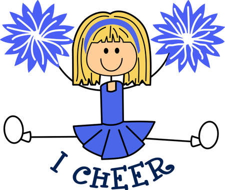 dedication: This is a perfect gift to be proud of her dedication to cheerleading.  She will love to show that she is a cheerleader with this design from Great Notions. Illustration
