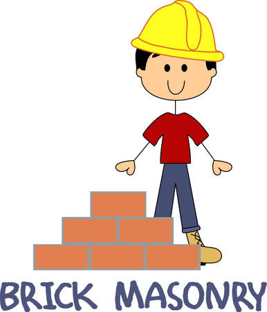 brick mason: Its the perfect advertisement for your brick mason business.  Get these designs from Great Notions Illustration