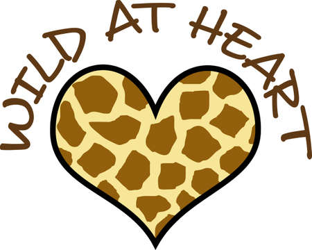 Look no further for a unique Valentines heart.  This leopard print is a neat design from Great Notions.