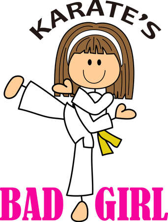 dedication: This is a perfect gift to be proud of her dedication to the art of karate.  She will love to show that she is a karate chick!