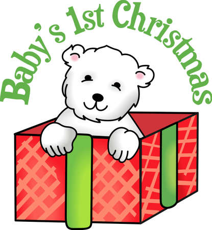 ���little one���: This cute little polar bear will make the perfect gift for a little one on Christmas day.  Get these designs from Great Notions.