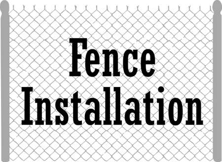 chain fence: Its the perfect advertisement for your fencing business.  Get these designs from Great Notions.