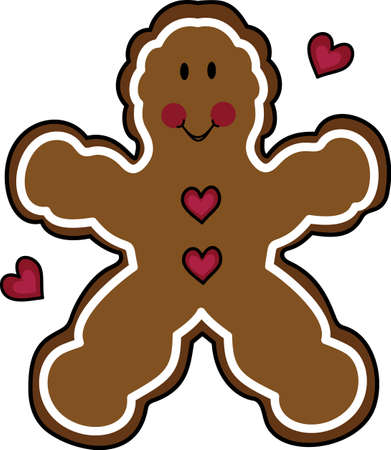 This gingerbread man is the perfect applique for your Christmas jacket.  Get these designs from Great Notions.