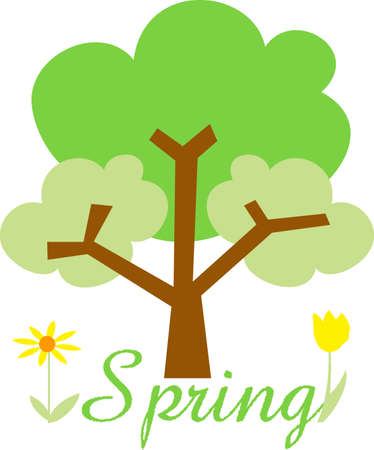 applique flower: Decorate your classroom to represent all four seasons.  These trees will be perfect!  Your students will love it!