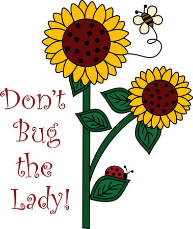 ladybeetle: Be happy with the springtime with beautiful flowers and bees.  A beautiful design by Great Notions!