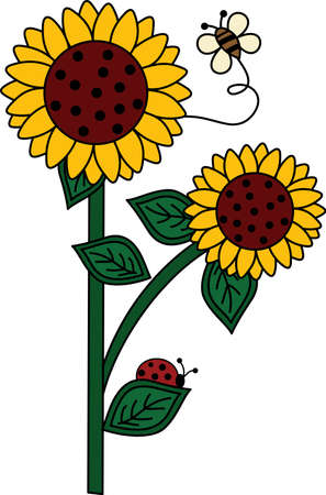 summer's: Be happy with the springtime with beautiful flowers and bees.  A beautiful design by Great Notions!